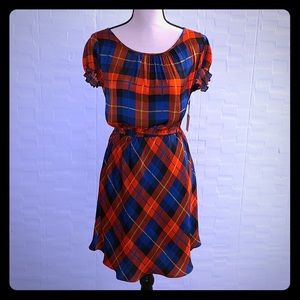 Forever21 Red & Blue Plaid Dress